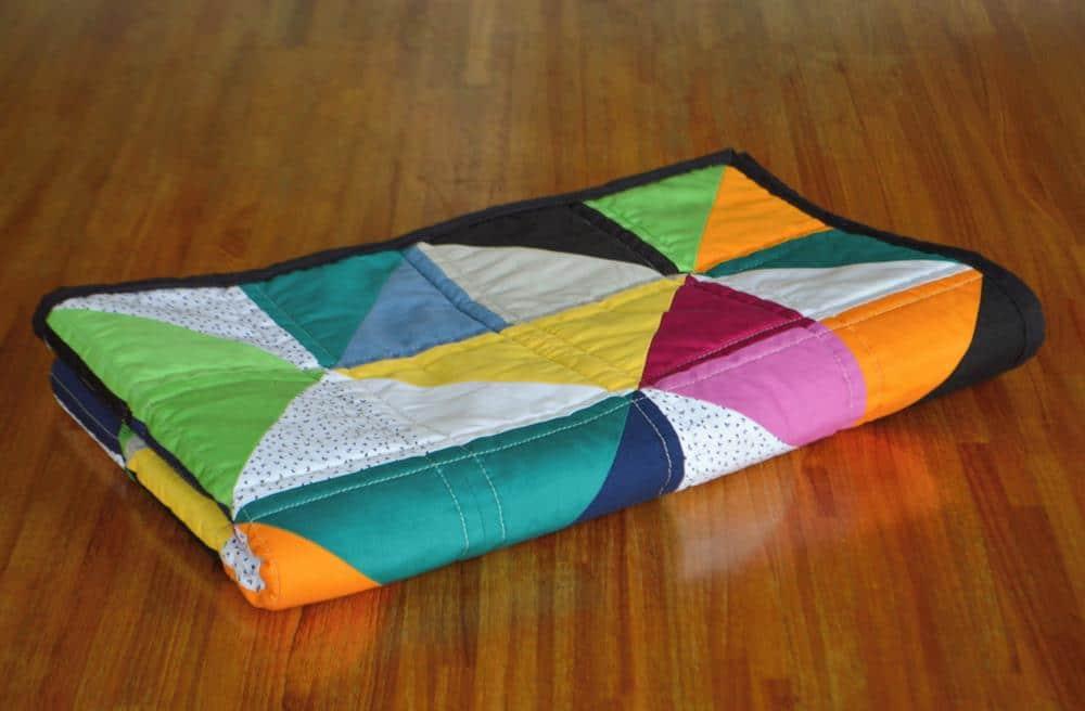 manta patchwork para berço