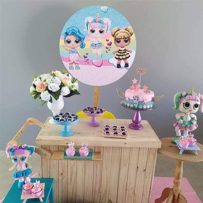 mesa de festa da lol
