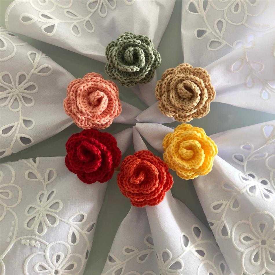 flores coloridas para guardanapo de tecido