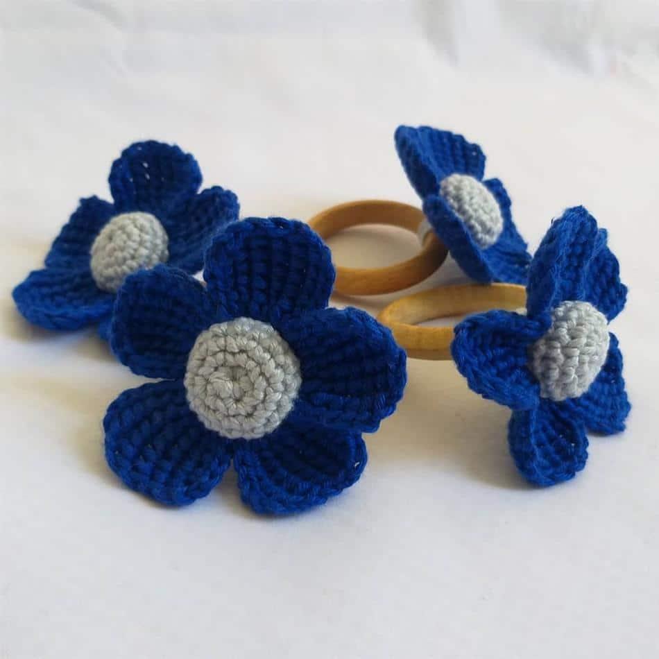 flor azul escuro