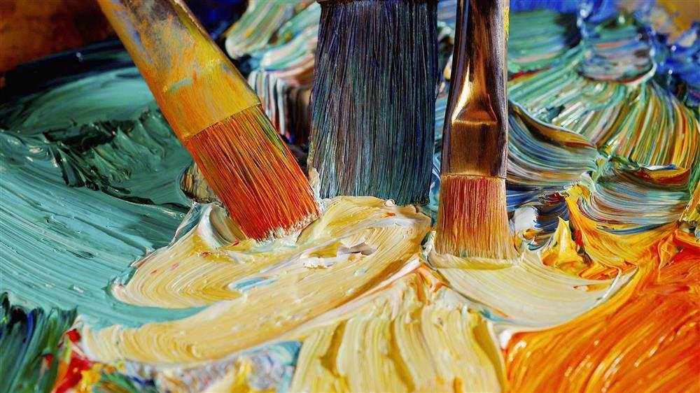 técnicas de pintura em tela