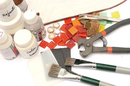 qual o material usado em mosaico