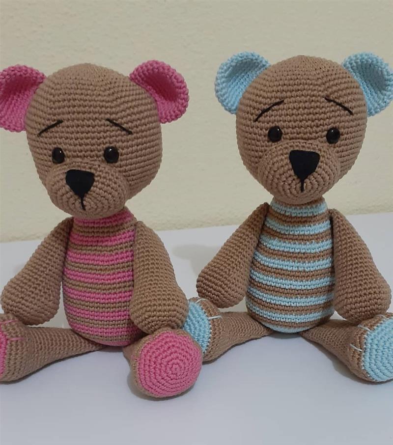 ursinhos rosa e azul