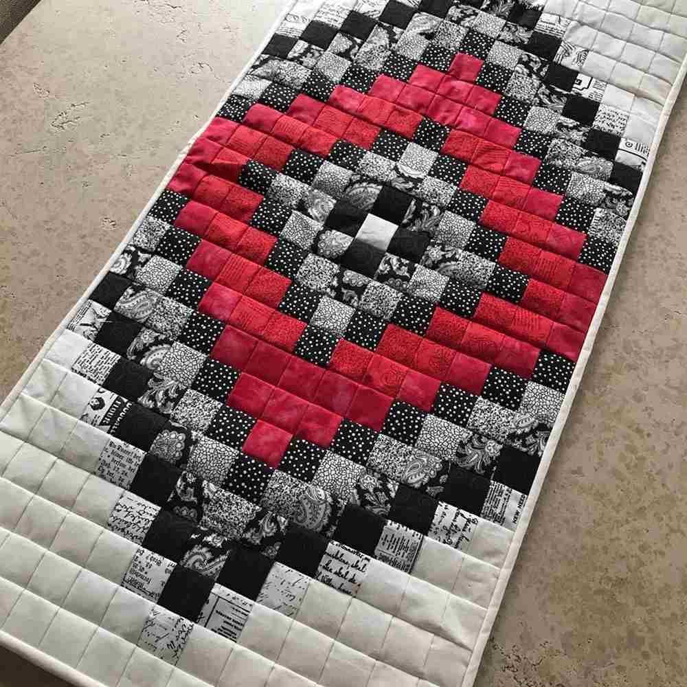 trilho de mesa de tecido