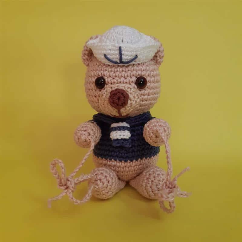 bate porta ursinho marinheiro