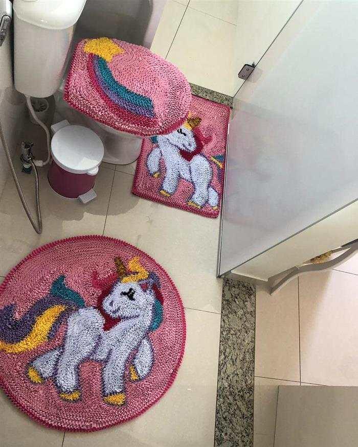tapete de banheiro com retalhos