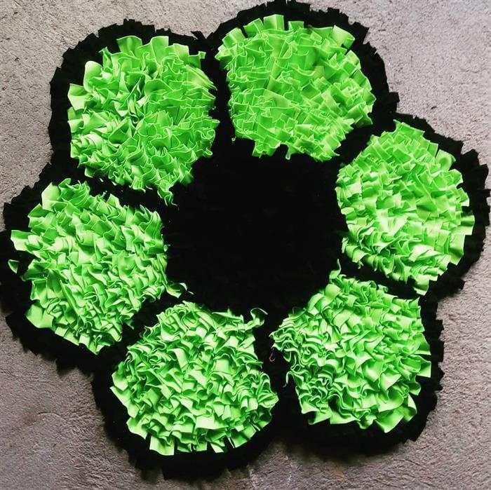 tapete de retalho em forma de flor