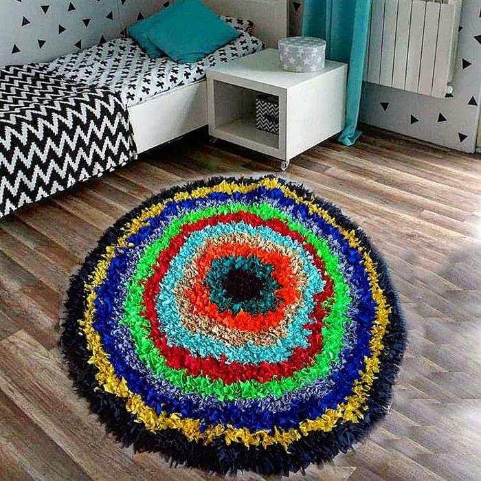 tapete de retalho grande para quarto