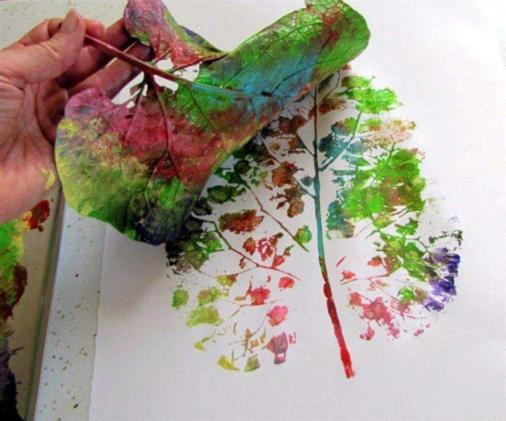 tela com folhas de árvores