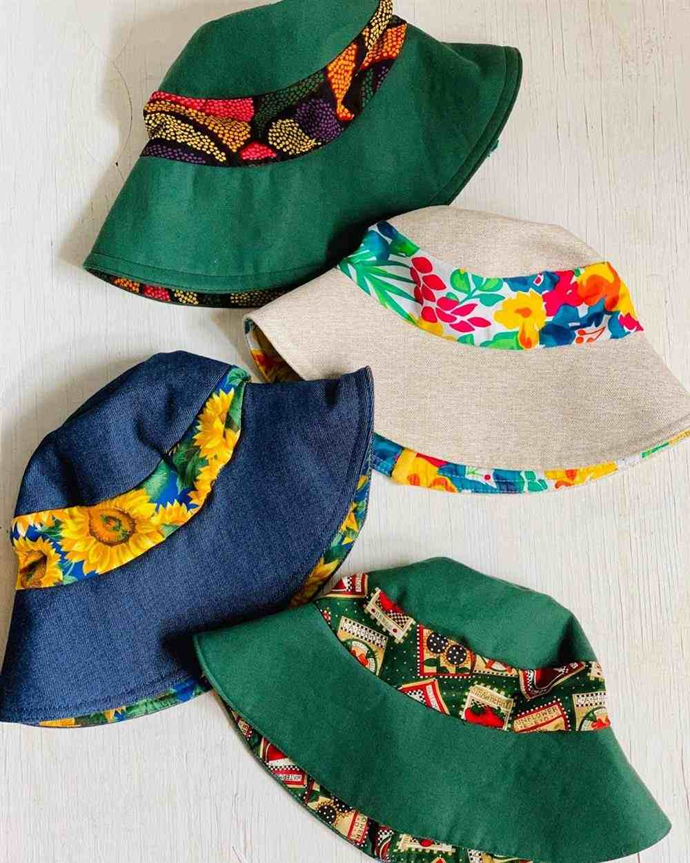 Chapéu de retalhos
