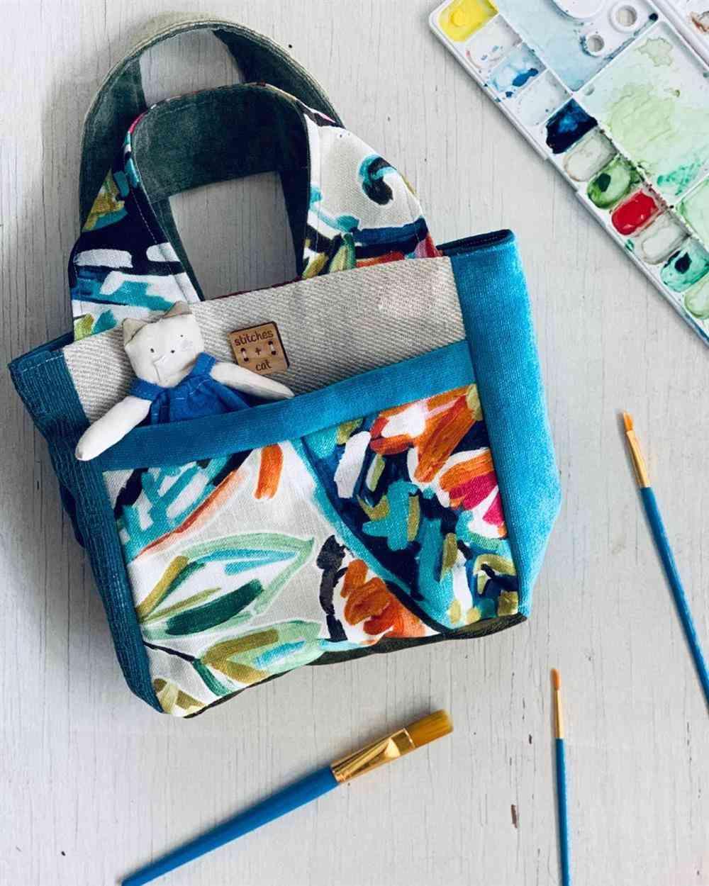 bolsa de retalhos tipo sacola