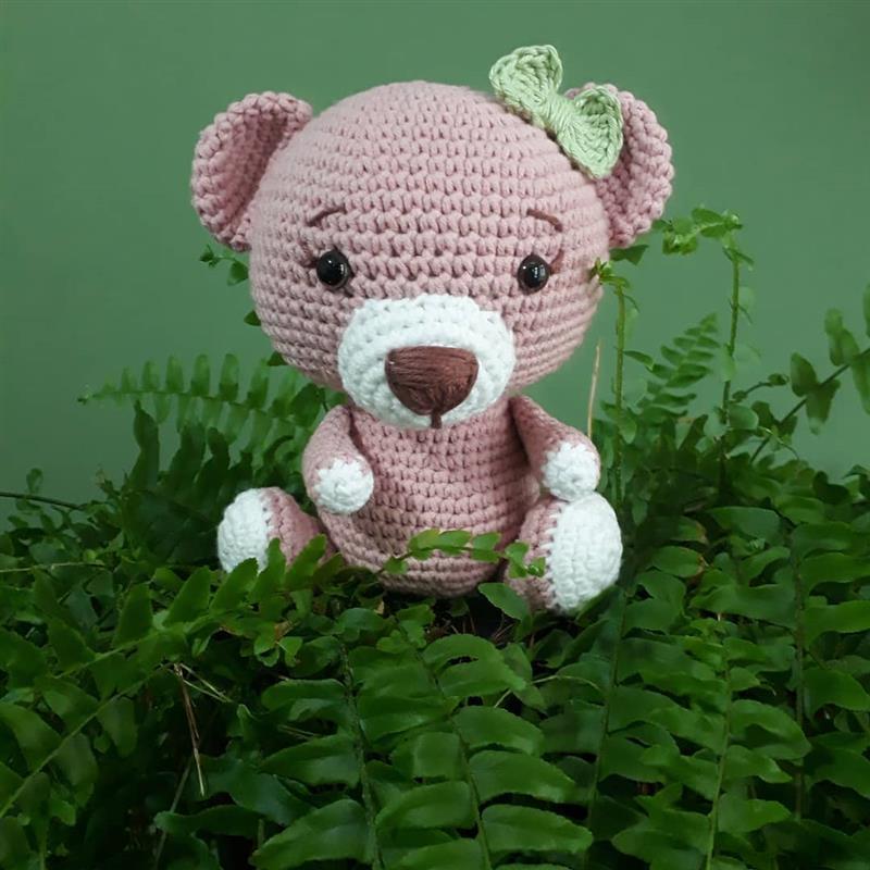 urso amigurumi pequeno