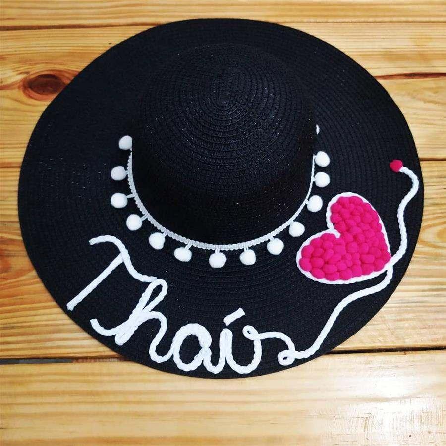 chapéu grande com nome
