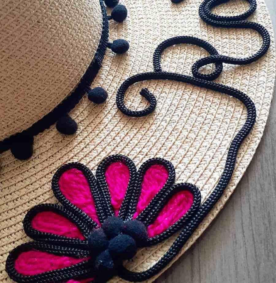 chapéu com nome passo a passo