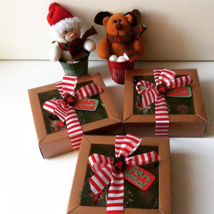 caixinha decorativa de natal