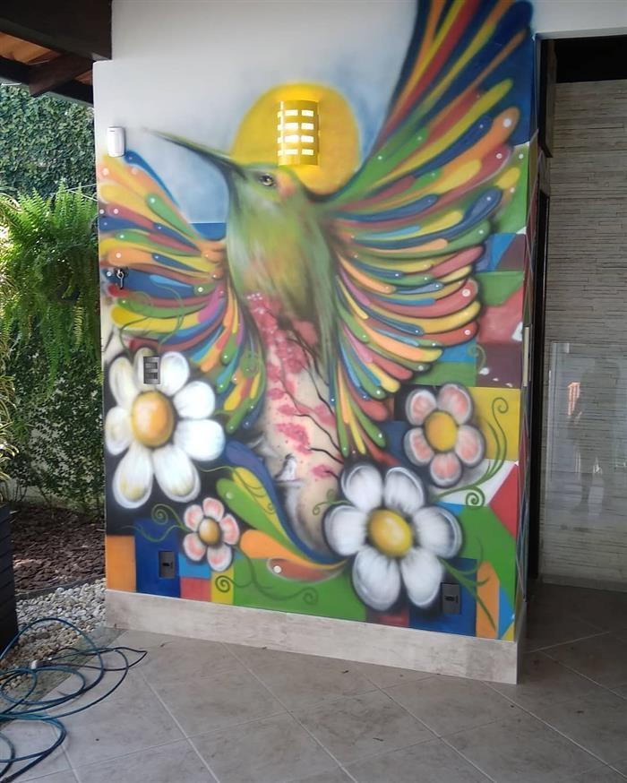 Pintura com grafite
