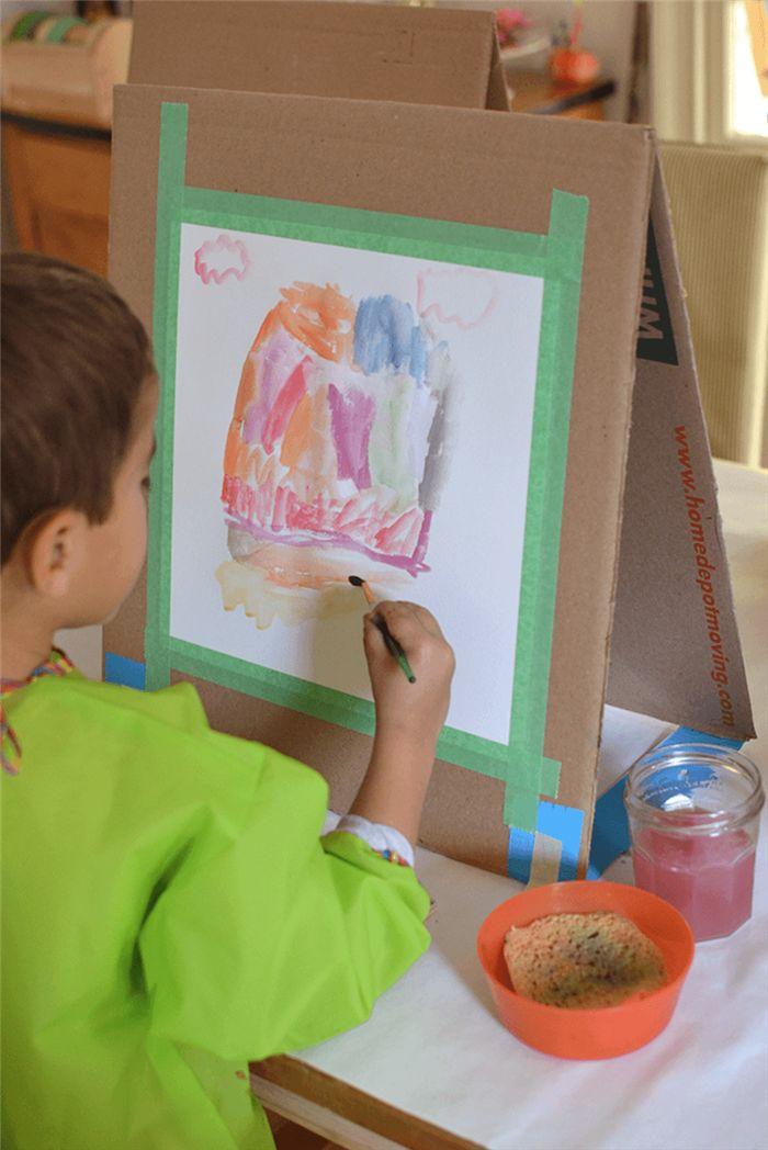 Cavalete de pintura infantil