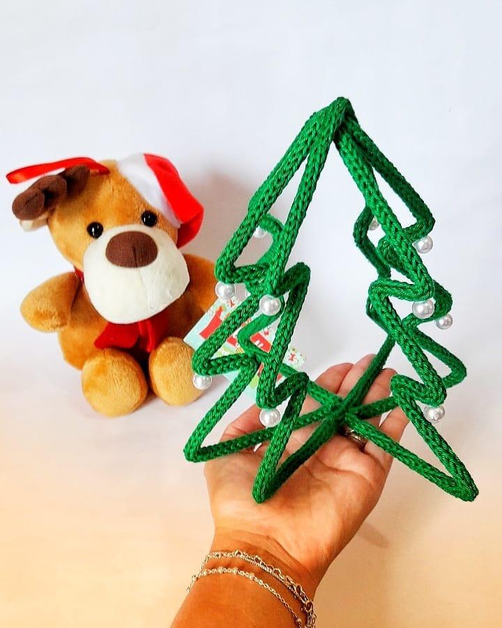 arvore de Natal de tricotin