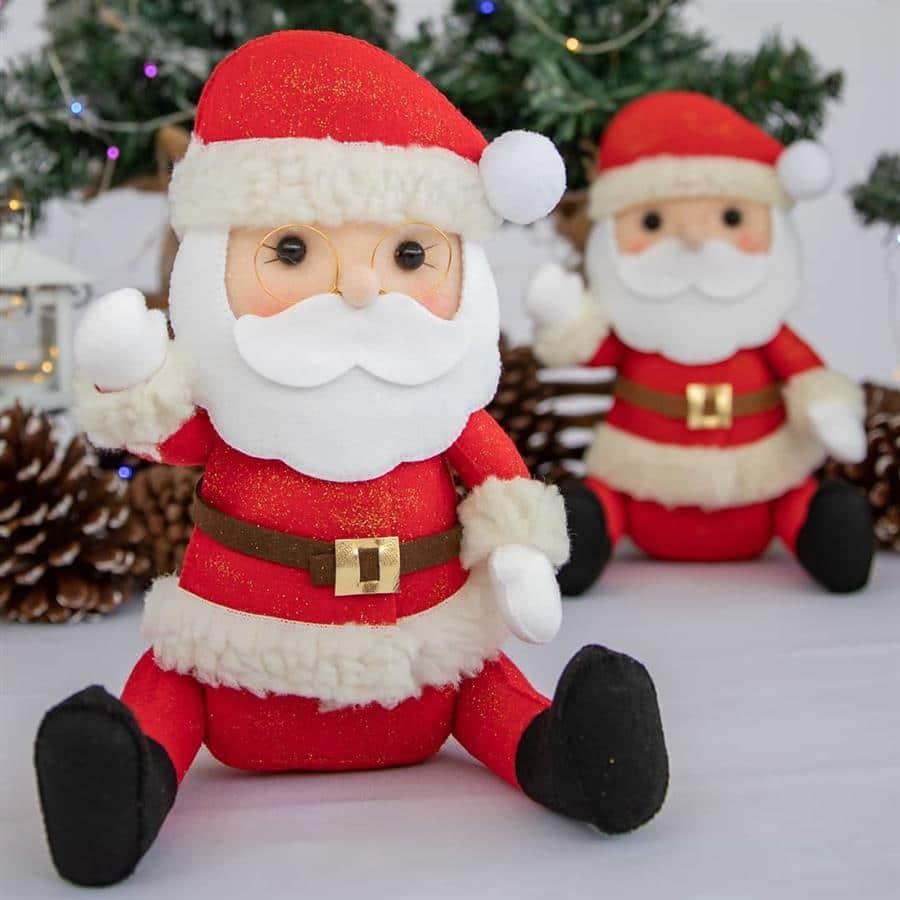 Papai Noel de tecido e feltro