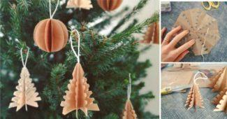 enfeite de natal com origami