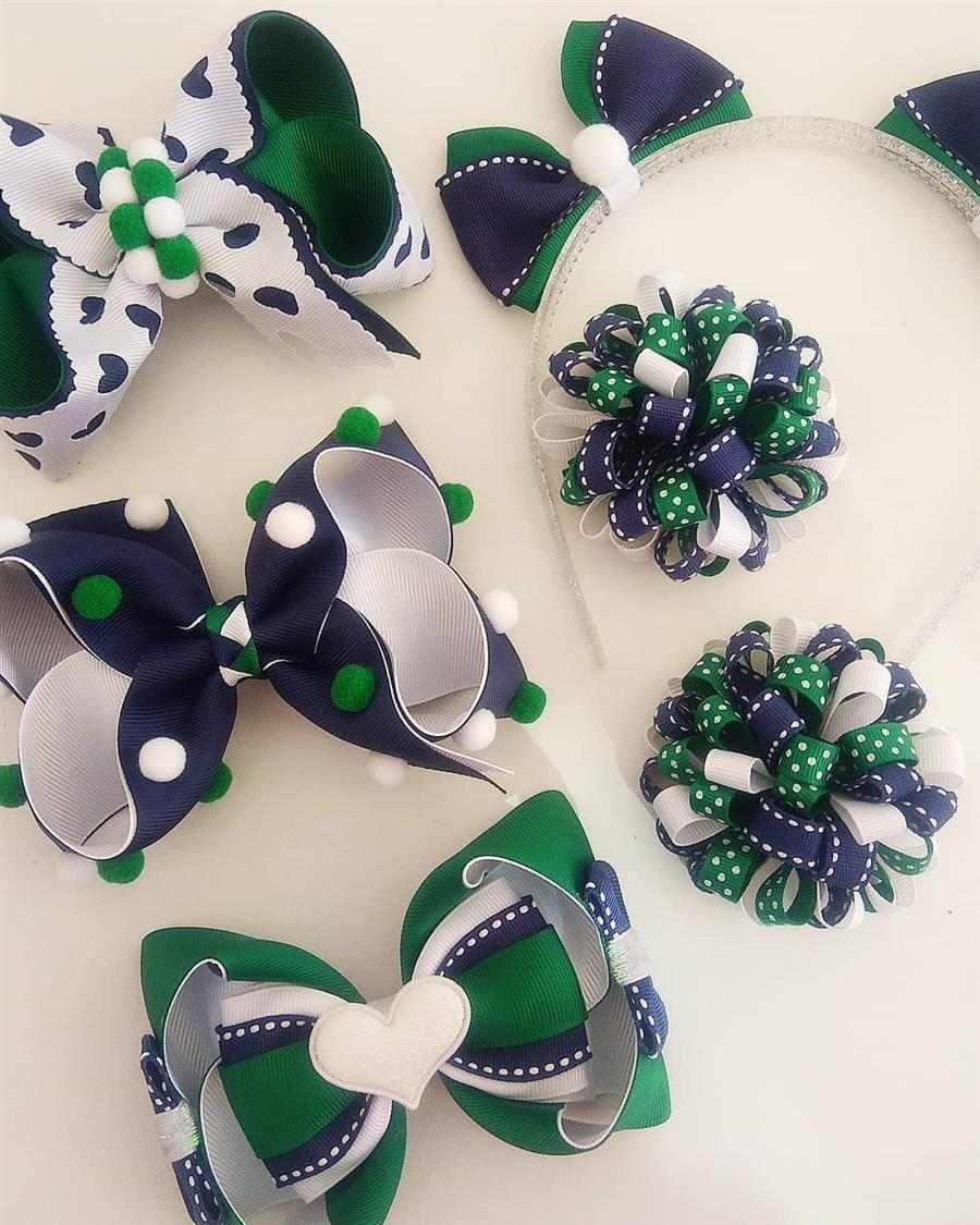 verde azul e branco