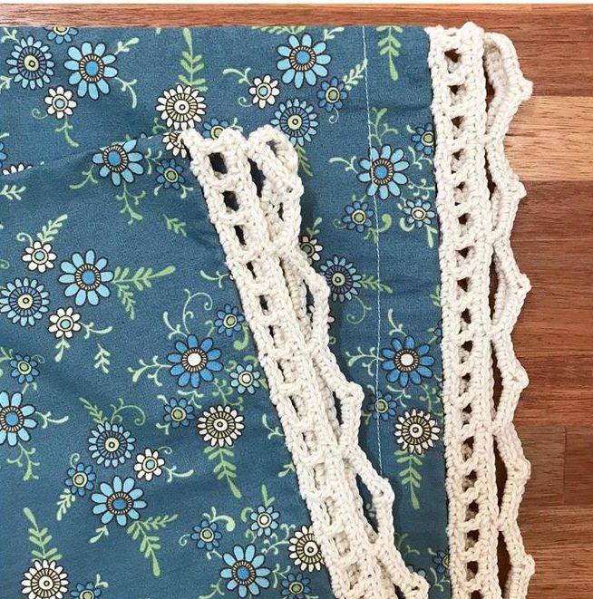 bico de croche simples para toalha de mesa