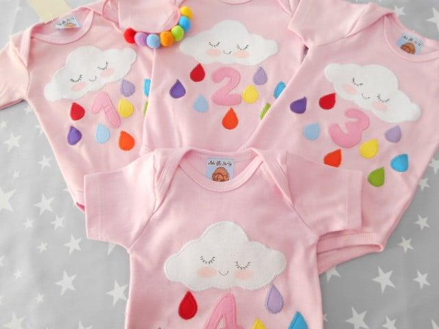 Customização de roupa infantil para mesversário