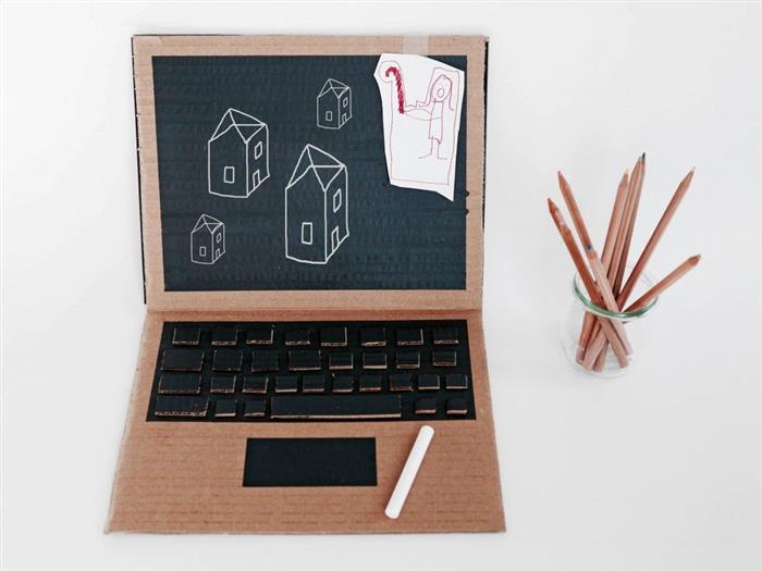notebook de papelao