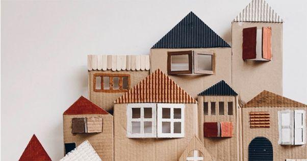 casa de papelão gigante