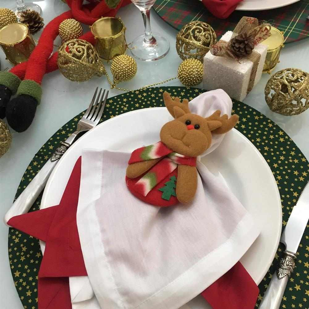 Capa para sousplat de Natal de tecido