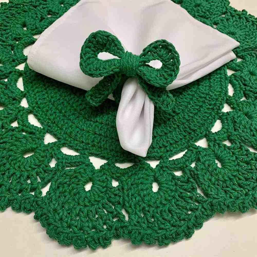 Sousplat de Natal em crochê verde