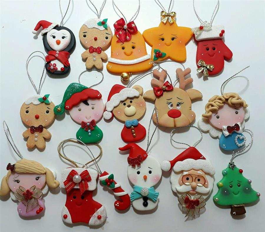 Enfeites de Natal em biscuit