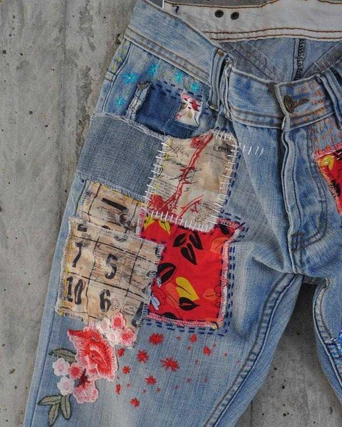 calça jeans feminina customizada