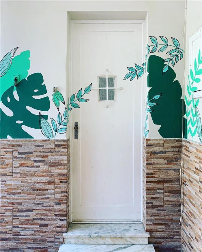 desenhos de árvores na parede