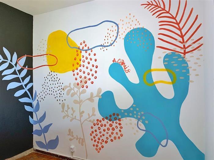desenhos na parede com tinta
