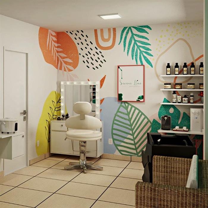 desenhos na parede de barbearia