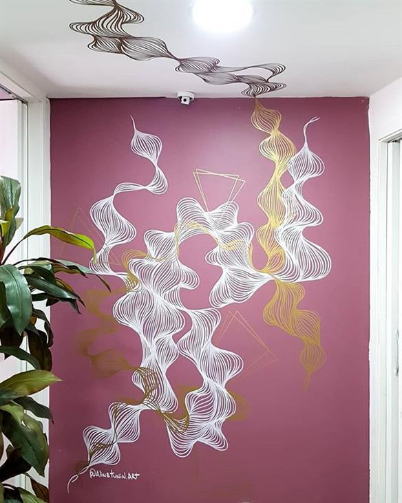 desenhos na parede feito a mao
