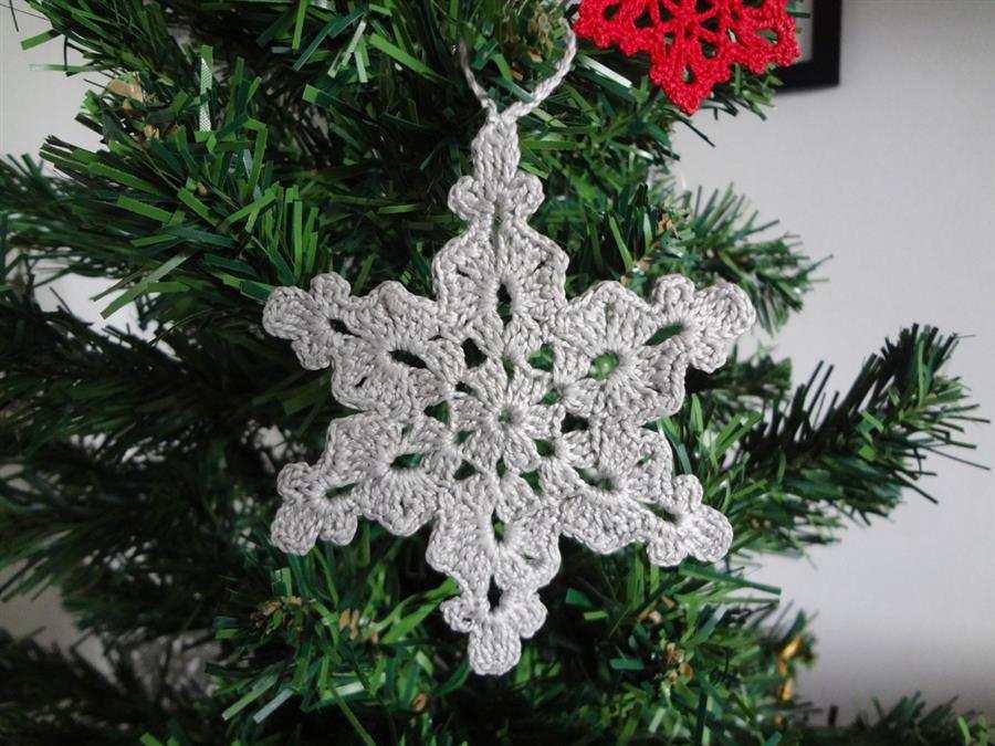 Estrela de Natal de crochê
