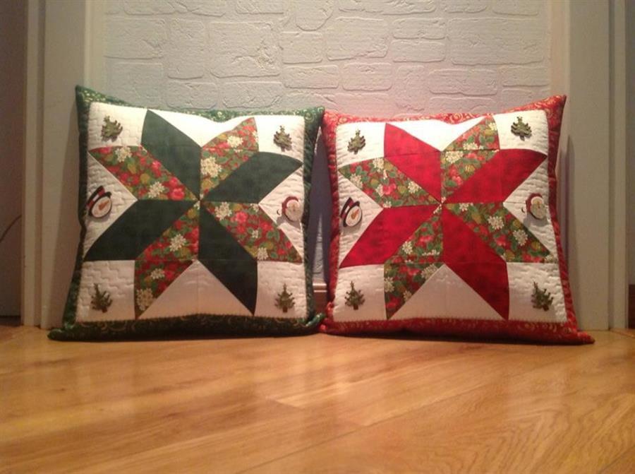 Almofadas natalinas de tecido