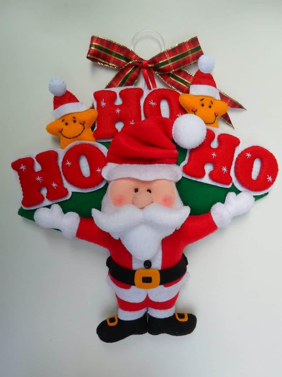enfeite de porta de Papai Noel