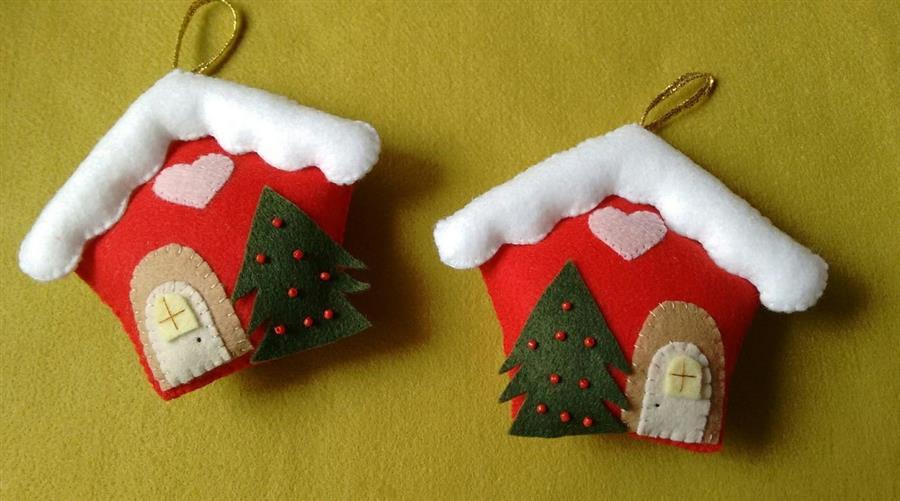 Casinha de Natal em feltro