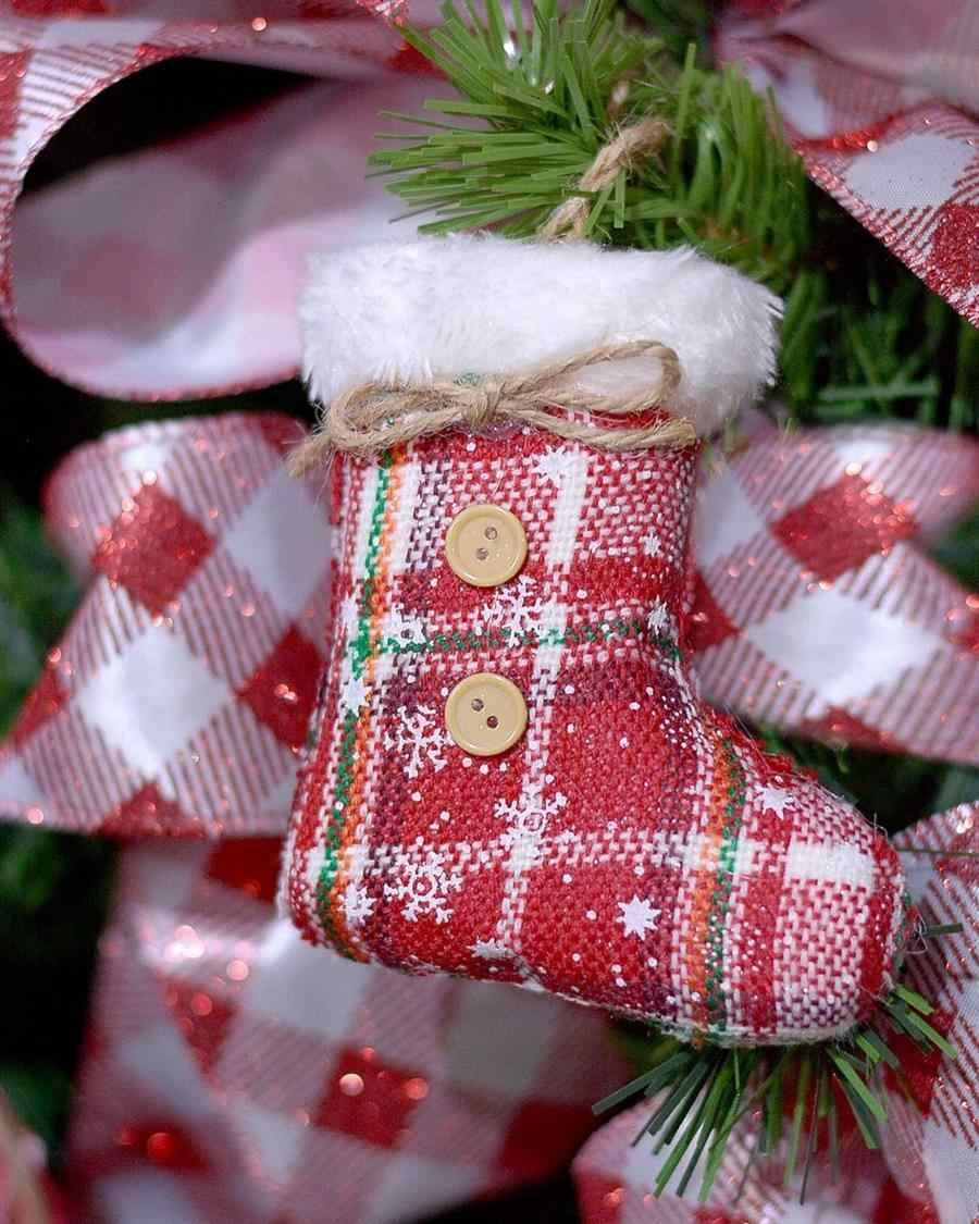 Botas de Natal de tecido