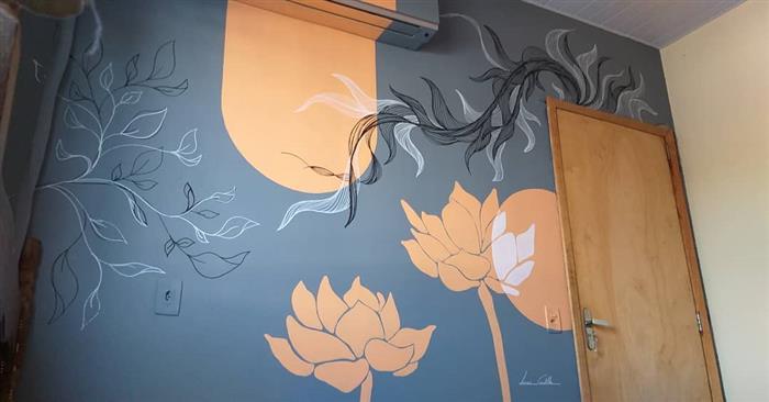 ideias para desenhos na parede do quarto