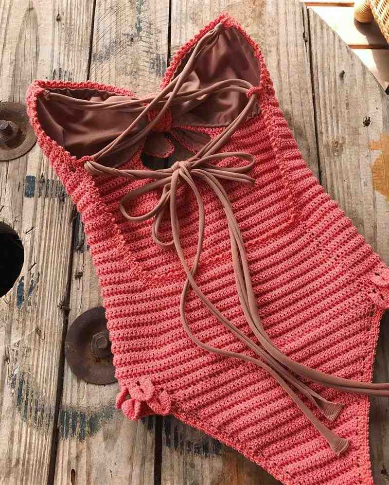 maiô de crochê com bojo