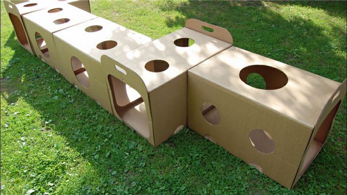 Túnel de caixas