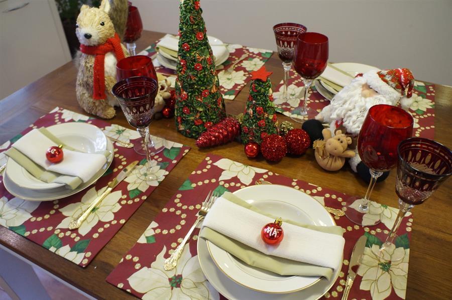 enfeites natalinos para mesa