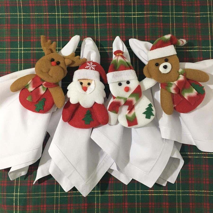 Porta guardanapo natalino bichinhos