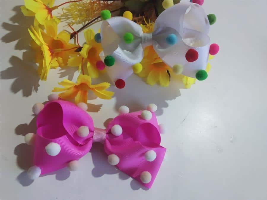 decorado com mini pompom