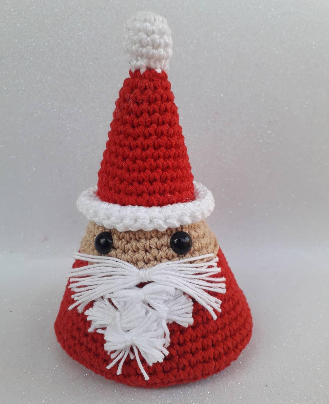 Papai Noel cone amigurumi