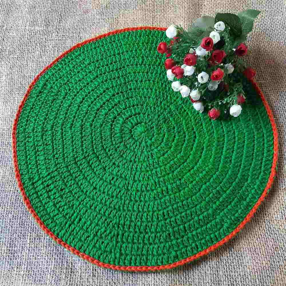 natalino verde com borda vermelha